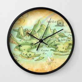Neverland Map Wall Clock