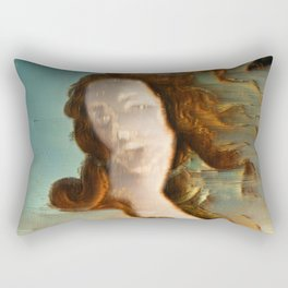 Birth of Venus Glitch Rectangular Pillow