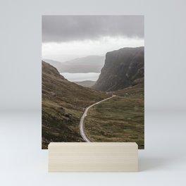 Scotland Road North Coast500| Highlands | photoprint - Aerial Photography - green - pastel - travel Art Print Mini Art Print
