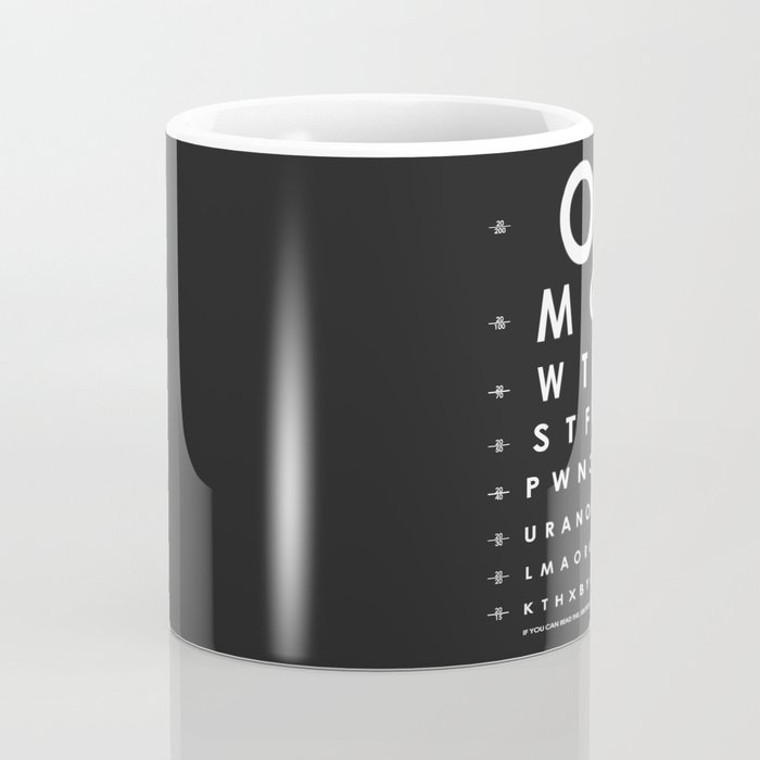 Simple Modern Ideas For Small Living Rooms To Fool The Eyes: CHECK YOUR EYES Coffee Mug By Pierakiskimonos