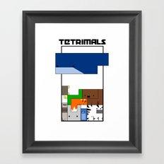 Tetrimals Framed Art Print