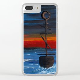 Abstract Sailing Clear iPhone Case
