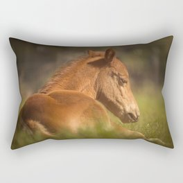 Cute Foal Laying Down Rectangular Pillow