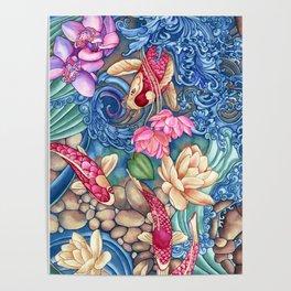 Orchid Splash Poster