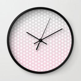 pink and grey pattern Wall Clock