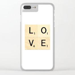 LOVE - Scrabble Letter Tiles Art Clear iPhone Case