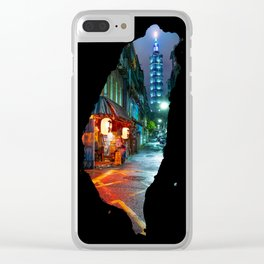 Taipei Map Clear iPhone Case