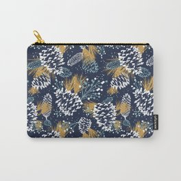 Festive Forest - Navy Carry-All Pouch