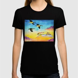 Herbert the Owl Considers Parachutes T-shirt
