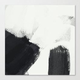 brush stroke black white painted II Canvas Print
