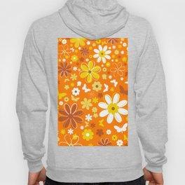 Butterfly Flowers And Butterflies In Orange Hoody
