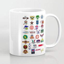 "World Cup 2018 the 32 contenders ""Nicknames"" Coffee Mug"