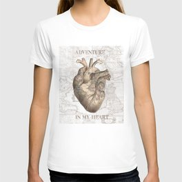 adventure heart-world map 1 T-shirt