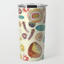 Vintage Floral Watercolour Pattern Travel Mug