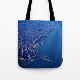 Chicago By Air No. 1: The Lakeshore from Downtown to Evanston Tote Bag