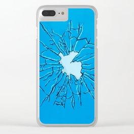Broken glass Clear iPhone Case