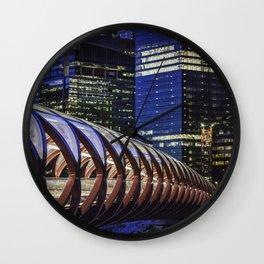 Calgary Peace Bridge Wall Clock