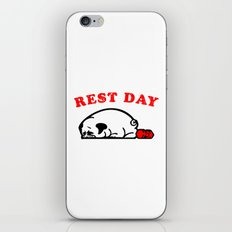 Rest Day Pug iPhone & iPod Skin