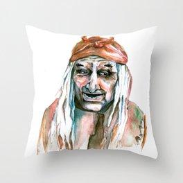 Kids and Strangers, beware Throw Pillow