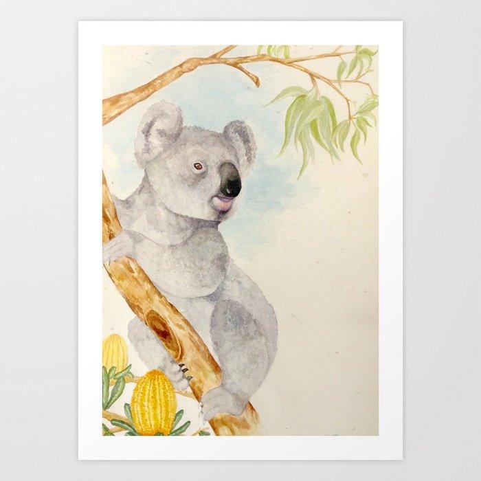 Koala is king Art Print