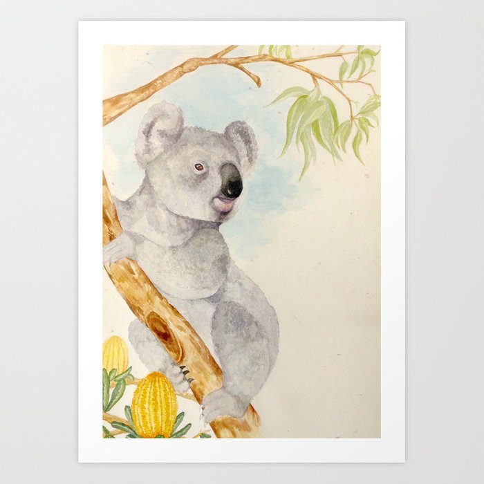 Koala is king Art Print