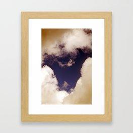 MAGIC SKY over BERLIN Framed Art Print