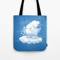 snowflake Tote Bags featuring Snowflake by Murat Özkan