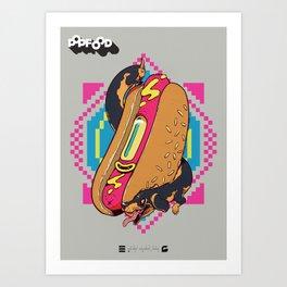 HOT-DOGS Art Print