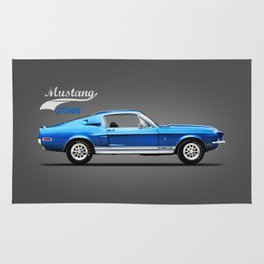 The Shelby Mustang GT500 Rug