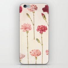 Red Flowers Decorative Vintage Pattern iPhone & iPod Skin