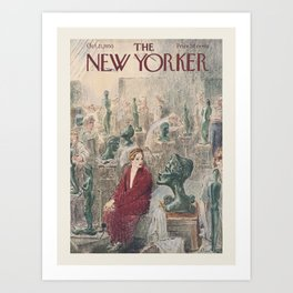 """Cover of """" The new Yorker"""" magazine. Oct. 21 1950. Art Print"""