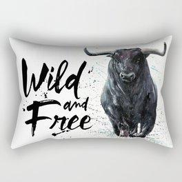 Buffalo wild & free Rectangular Pillow