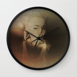 """""""raw red weal"""" Wall Clock"""
