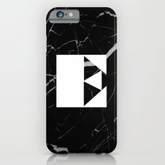 Black Marble - Alphabet E Slim Case iPhone 6s