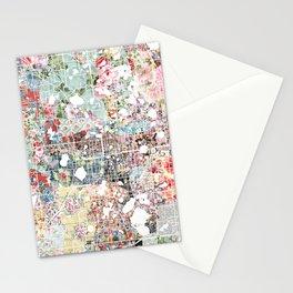 Orlando map landscape Stationery Cards