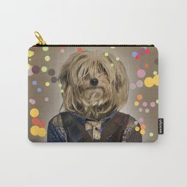 Shaggy Mixed-breed dog I - Pop version Carry-All Pouch