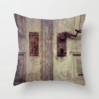 door Throw Pillows featuring door by Deviens