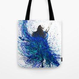 Teal Wave Dance Tote Bag