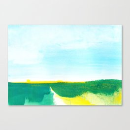 Distant forest abstract landscape Canvas Print