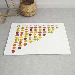 numbers for preschool kindergarten kids kawaii fruit from one to ten Rug