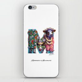 Moomoos in Muumuus iPhone Skin