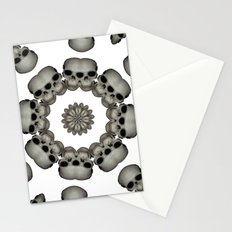 Creepy Human Skull Mandala Stationery Cards