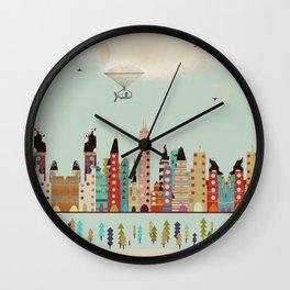 visit Indianapolis Indiana Wall Clock