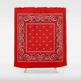 Bandana in Red - Classic Red Bandana  Shower Curtain