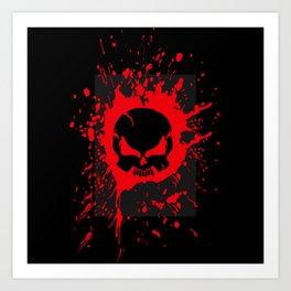 ZORT Blood Splatter Art Print