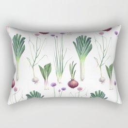 Edible Alliums Rectangular Pillow
