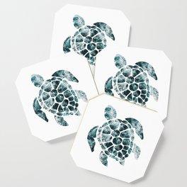 Sea Turtle - Turquoise Ocean Waves Coaster