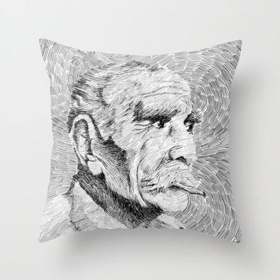 Hombre - black ink Throw Pillow