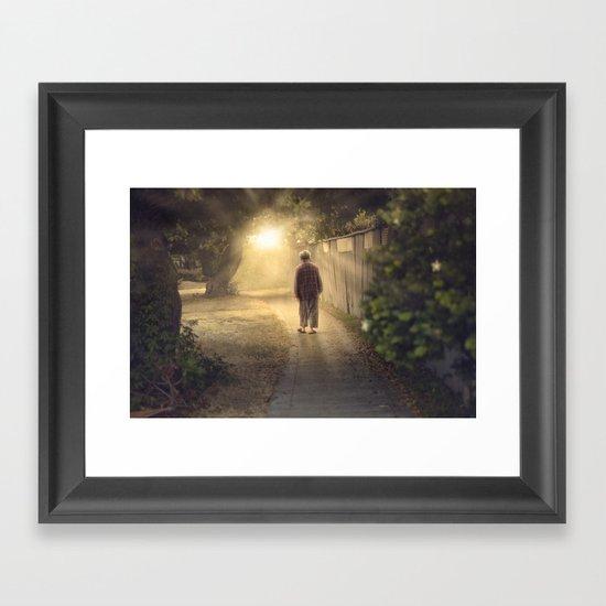 """It's time,"" he said. Framed Art Print"