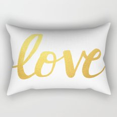 Love Gold Rectangular Pillow